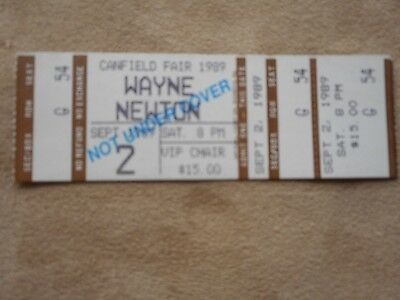 Wayne Newton V.i.p. Chair 1989 Canfield Fair Used Concert Ticket