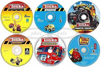 Kids Tonka Games Preschool Kindergarten Age PC Windows Software New CD-ROMs
