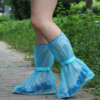 Great Waterproof Shoe Cover Reusable Anti-slip Rain Boot Motorcycle Bike
