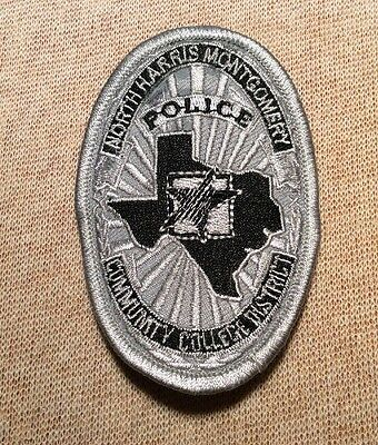 TX North Harris Montgomery Community College District Texas Police Patch (3.5In)