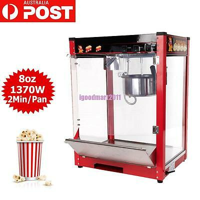 8oz Commercial 3 Control Switch Popcorn Machine Pop Corn Popper Maker 1370W
