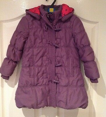 Girls Purple Warm John Lewis Coat With Hood - Age 4