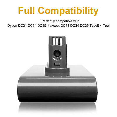 22.2V Vacuum 2.0 Battery for Dyson DC31 DC34 DC35 DC44 DC45 64167 Animal Type A
