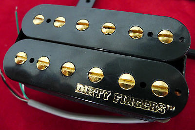 New Humbucker GIBSON DIRTY FINGERS -7,8k- pôles dorés- pour Gibson, Epiphone