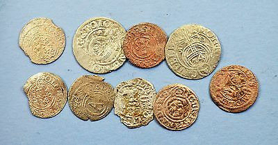 Mixed lot of Medieval Poland & Sweden Silver Coins