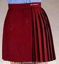 "GYMPHLEX Girls/Ladies MAROON School Gym Kilt/Skirt W30"" 14+ yrs- NEW!"