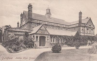 Ladies High School, Guildford, Surrey, old postcard, posted 1905