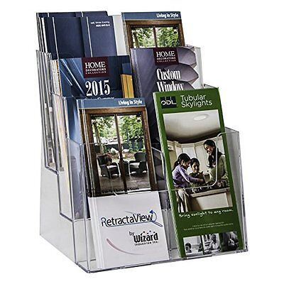 Clear-Ad Literature Organizers - LHF-S83 - Acrylic 3 Tier Brochure Holder - Top