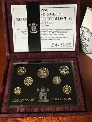 1996 Royal Mint U.K. ANNIVERSARY SILVER PROOF COIN COLLECTION