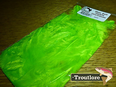 Chartreuse Metz Soft Hackle From Hareline Dubbin - New Fly Tying Feathers