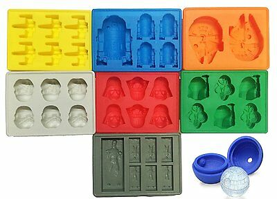 Star Wars ice cube tray chocolate jelly mould pack of 8 FAST DELIVERY