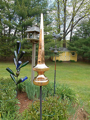 "36"" Copper Finial spire roof sculpture- handmade and very attractive"