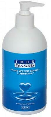 NEW Four Seasons Pure Water Based Lubricant 500ml Pump