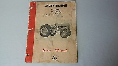 Vintage MASSEY FERGUSON Farm Tractor MF35 Operating Manual Instructions Booklet