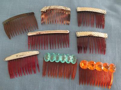 Vintage 50's Ladies Decorated Hair Comb Collection