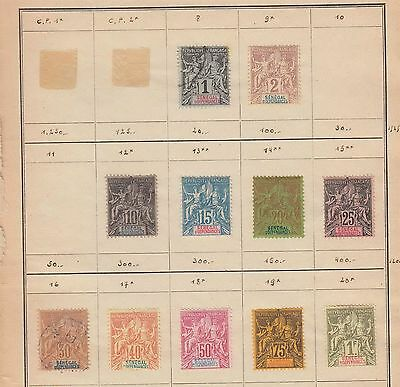 French colonies SENEGAL MH stamps on pages (CV $230 EUR209)