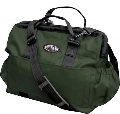 Showman HUNTER GREEN Nylon Horse Grooming Tote Bag! NEW HORSE TACK!