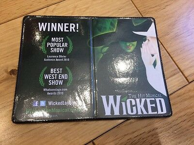 WICKED THE MUSICAL rare London Oyster/Travelcard Wallet