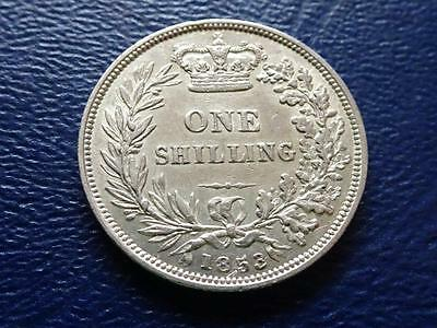 Great Britain - Queen Victoria Sterling Silver Shilling 1853
