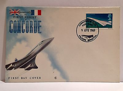 First Flight Of Concorde First Day Cover  1969 - Unaddressed