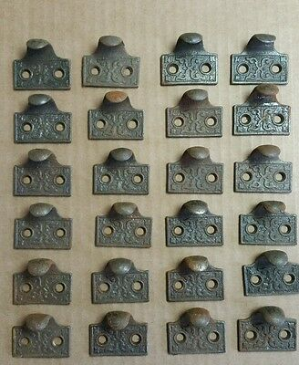 24  matching cast iron Victorian style sash lifts,window lifts,pulls,handles