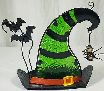 NWT Metal Halloween Witch's Hat Tea Light Candle Holder
