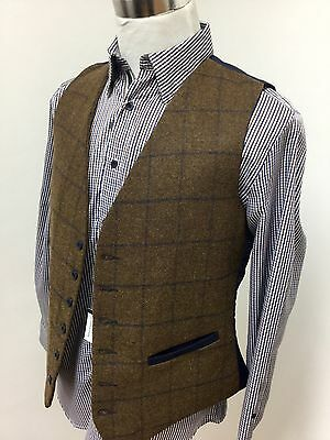 Mens tweed waistcoat (XXL) brown RRP £59.99 country shooting hunting horse check