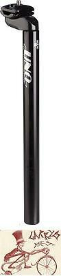 Kalloy Uno 602  25.4 X 350Mm Micro-Adjust Black Bicycle Seat Post