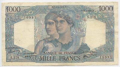 GB452 - Banknote Frankreich 1000 Francs 1946 Pick130 RAR France