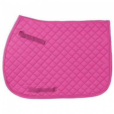 EquiRoyal Pink Quilted Square English Saddle Pad Horse Tack Equine 60-925