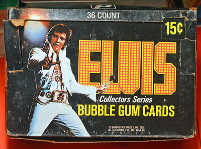 Box Of Unopened 1978 Elvis Bubble Gum Cards 24 Packs