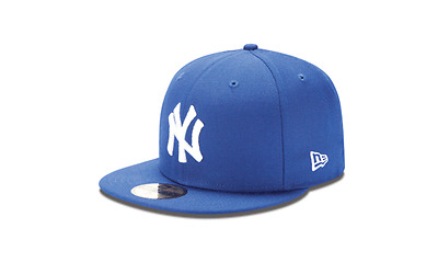 NEW YORK YANKEES New Era 5950 Royal White MLB Cap Fitted NY Basic Hat Blue 2f65d98cbc16