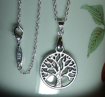Folklore Woodland *Tree of Life* Full Set.*Silver 925 Necklace+Matching Earrings