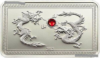 Palau 2012 Year of Dragon 5 Dollars Silver Coin,Proof