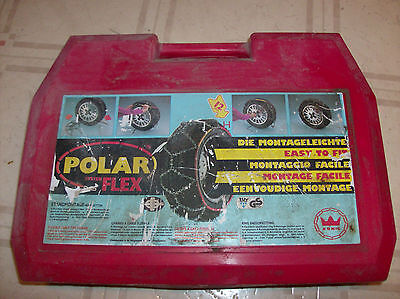 Konig Polar Flex Series Tire Chains Italy New and Unused Orig. Owner 7T 12mm