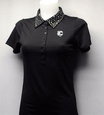 New Ladies XS  abacus short sleeve polyester golf polo shirt Wildfire