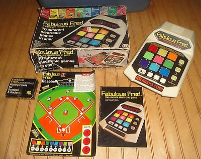 Vintage 1980 Mego Fabulous Fred Electronic Game Works
