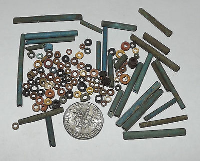 More than a Hundred 2500 Year old Ancient Egyptian Faience Mummy Beads (#D8195)