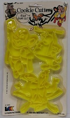 CARTOON COOKIE CUTTERS ~Mighty Mouse, Deputy Dawg, Heckle & Jeckle~ NEW Sealed!