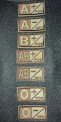Brand New Blood Type Group Tan Patch Hook Loop Backed Aussie Australian Seller