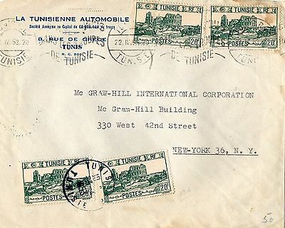 1945 TUNISIA, Land and people, envelope, stamps