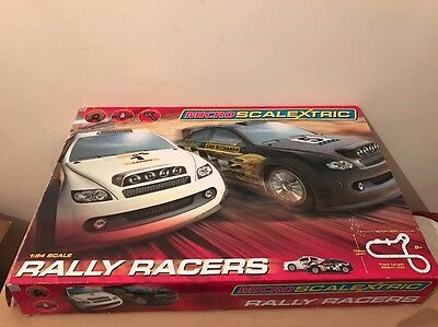 Micro Scalextric Rally Racers Slot Cars Track Complete Boxed