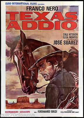 Texas Addio Manifesto Cinema Film Western Franco Nero Italian Movie Poster 4F