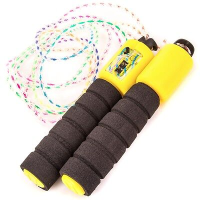 SKIPPING ROPE & DIGITAL COUNTER Adjustable Aerobic Jump Exercise Boxing/Fitness