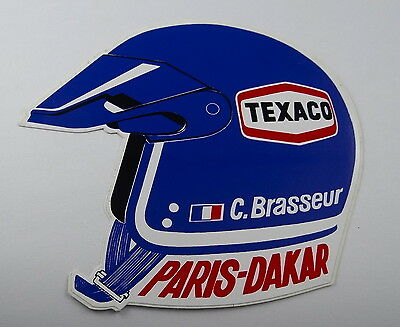 Aufkleber PARIS-DAKAR 1983 Claude BRASSEUR Texaco Ickx Mercedes Citroen Sticker