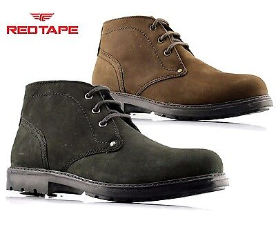 MENS Red Tape LEATHER DESERT CHUKKA CASUAL LACE UP ANKLE FASHION BOOTS SHOES SZ