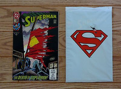 Superman #75 Death  & Adventures of Superman #500 White