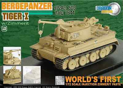 Dragon Armour 60039 1:72 Bergepanzer Tiger I with Zimmerit Italy 1944
