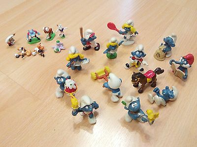 Smurfs - vintage collection ('70s - '80s), 12 figures + extras!