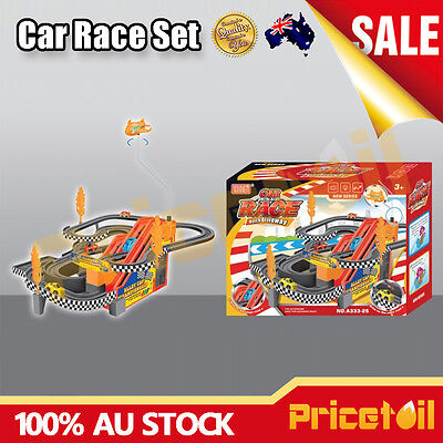 Car Race Track Set Racing Car Game Battery Operated with Music Kids Toy Set Gift